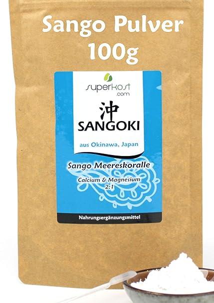 100 g Sango Coral Marino polvo original de Okinawa zócalo.