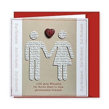 Knopfkarte 22 1000 Gute Wunsche Hochzeitskarte Amazon De
