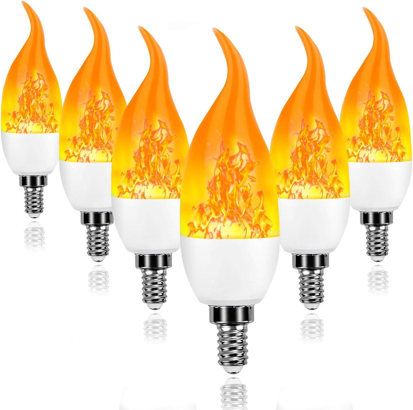 LED Flickering Flame Bulb 4 Lighting Modes Creative Decorative Light Bulbs for Halloween Christmas Home Hotel Bar Party,2 Pack YANGMAN-L B22 Base Blue Flame Light Bulb