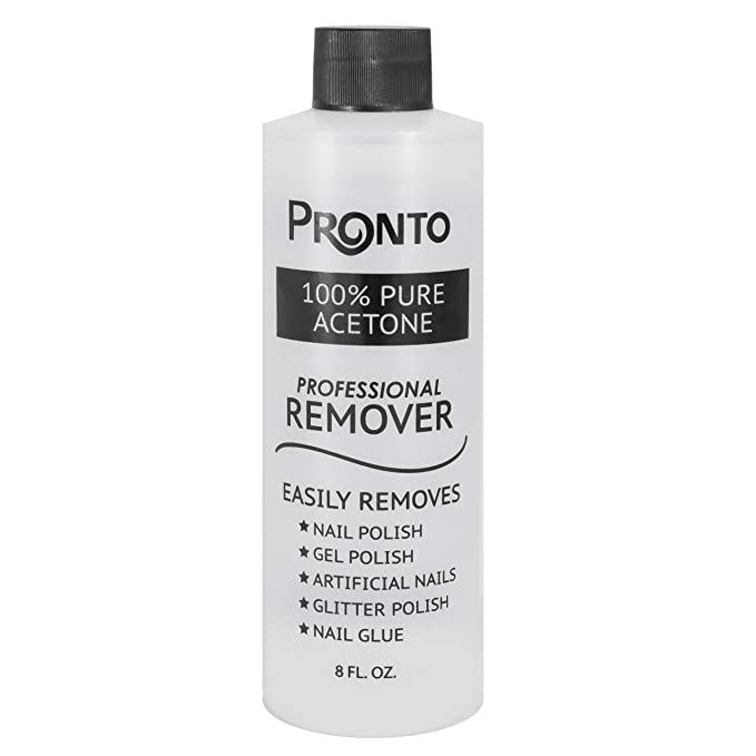 Pronto 100% Pure Acetone - Quick, Professional Nail Polish Remover - for Natural, Gel, Acrylic, Sculptured Nails (8 FL. OZ.)   Amazon