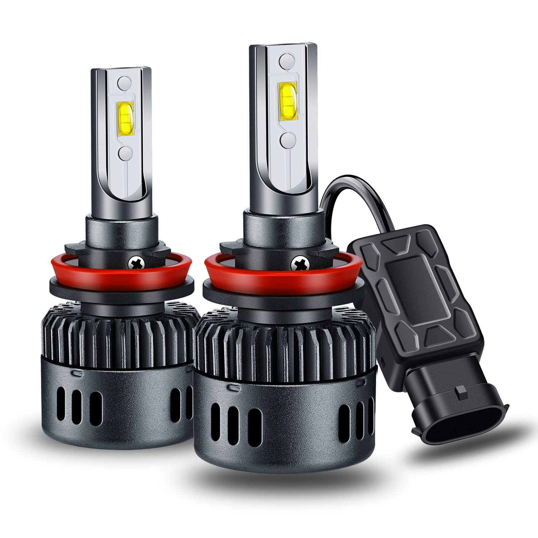 Pack of 2 H13 9008 LED Headlight Bulbs Conversion Kit Yosaky Super Bright 6000K 6000LM 24xFC Led Chips Headlight Kit-Hi//Lo Beam