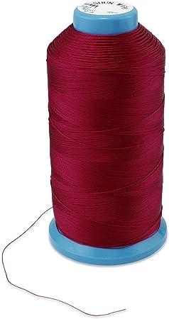 WheateFull - Hilo de coser de nailon fuerte para exteriores, asientos de cuero, bolsos, zapatos, lona, tapicería y máquina de coser rosso: Amazon.es: Hogar