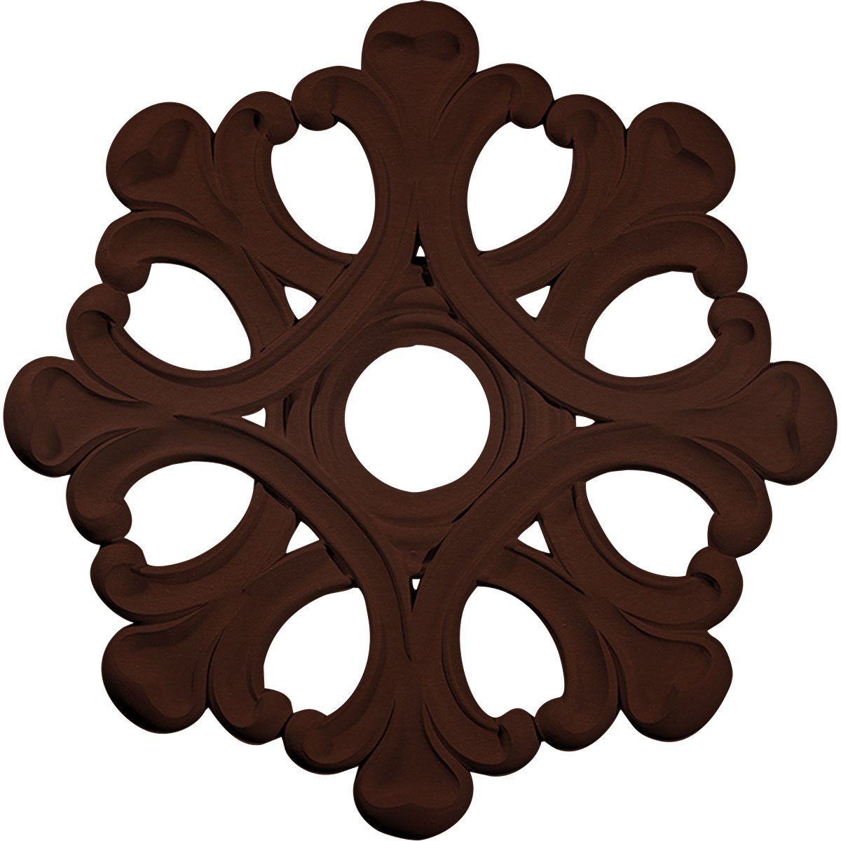 Ekena Millwork CM20ANBMF Angel Ceiling Medallion fits Canopies up to 4 3/8'', Brushed Mahogany