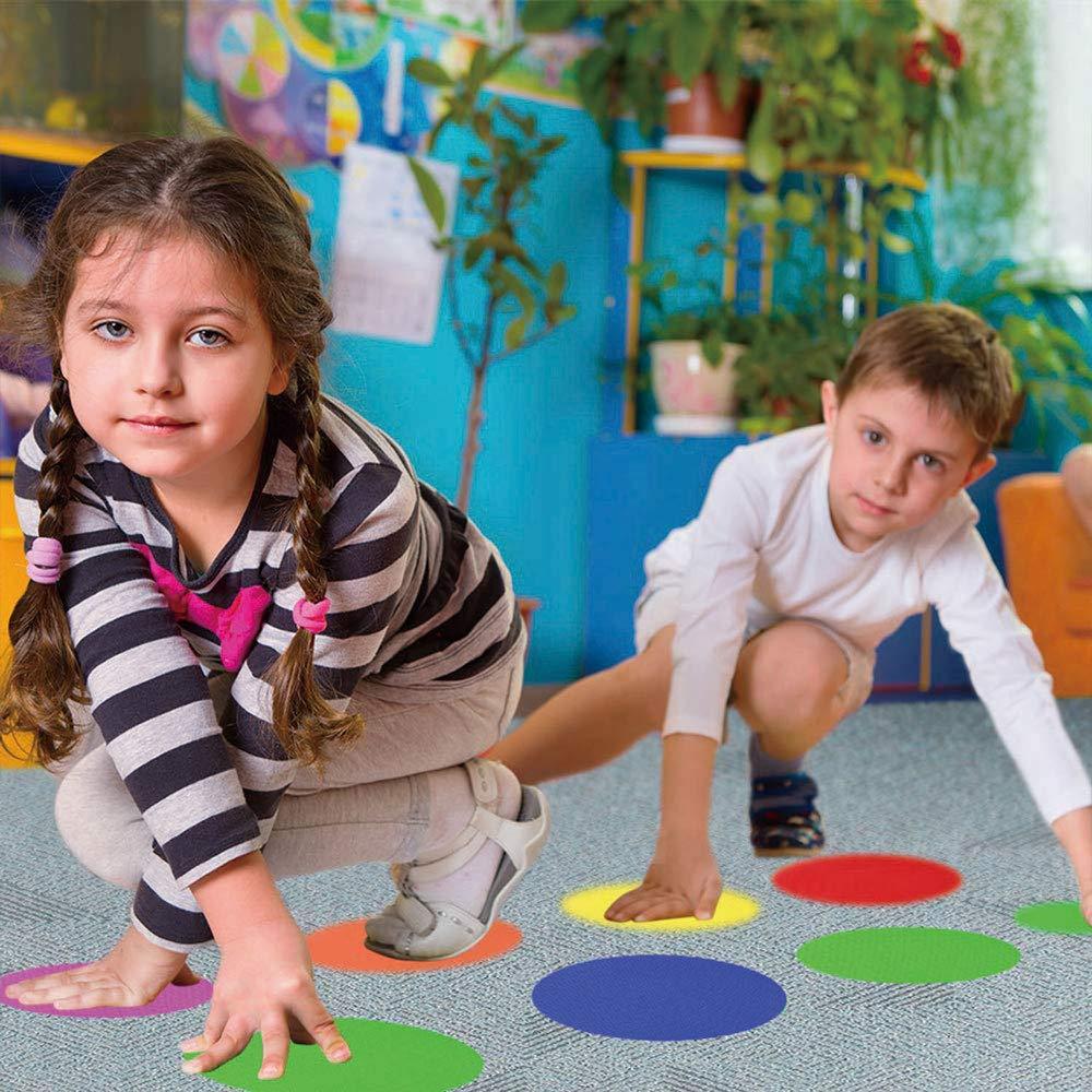 Sitting Sports Mark for Students Kindergarten Preschool Kids and Teachers Classroom Floor Rug Circles Spot Dots Round HAPPY FINDING 36 Packs Carpet Spot Markers