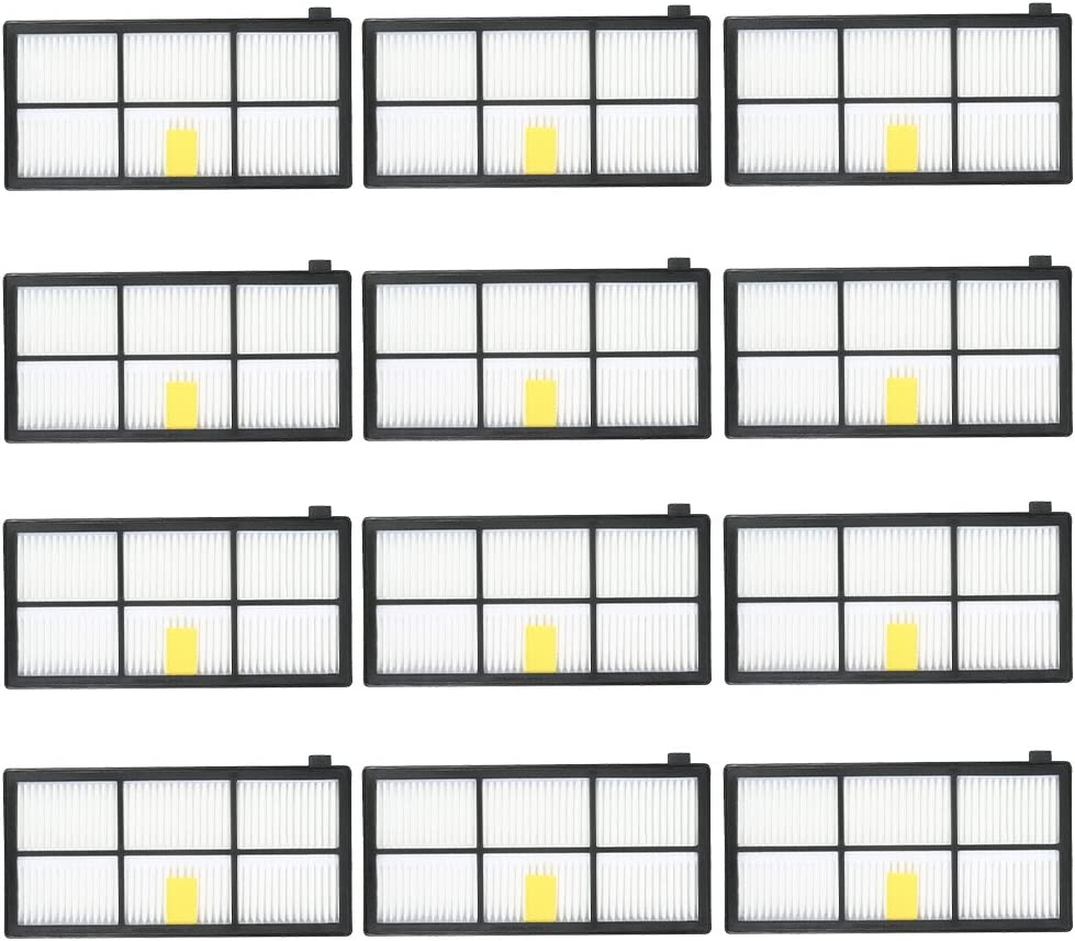 Mainstayae 12pcs HEPA Filter Replacement Accessories Kit Replenishment for iRobot Roomba 800 & 900 Series 805 860 861 864 866 870 880 890 891 894 960 961 964 966 980 Vacuum Cleaner