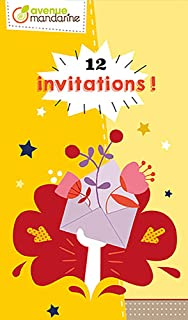 Avenue Mandarine – Carte di invito, Garden Party, co190 C, Multicouleurs