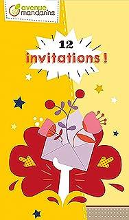 Avenue Mandarine–Carte di invito, Garden Party, co190C, Multicouleurs