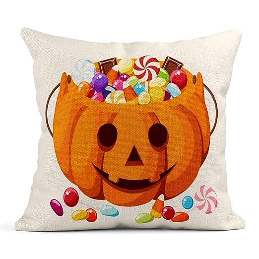 Kinhevao Cojín Blue Candy Caramelos de Halloween en Jack O ...