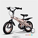 Baby Carriage Air Magnesium Alloy Children's Bicycle 2-6 Years Old Men and Women Baby Bikes 12,14,16 Inch Kids Tricycles (Color : Gold, Size : 12 inches)