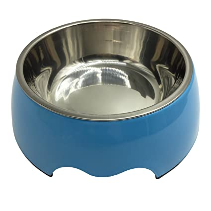 amazon com pet cuisine stainless steel non skid melamine dog bowl