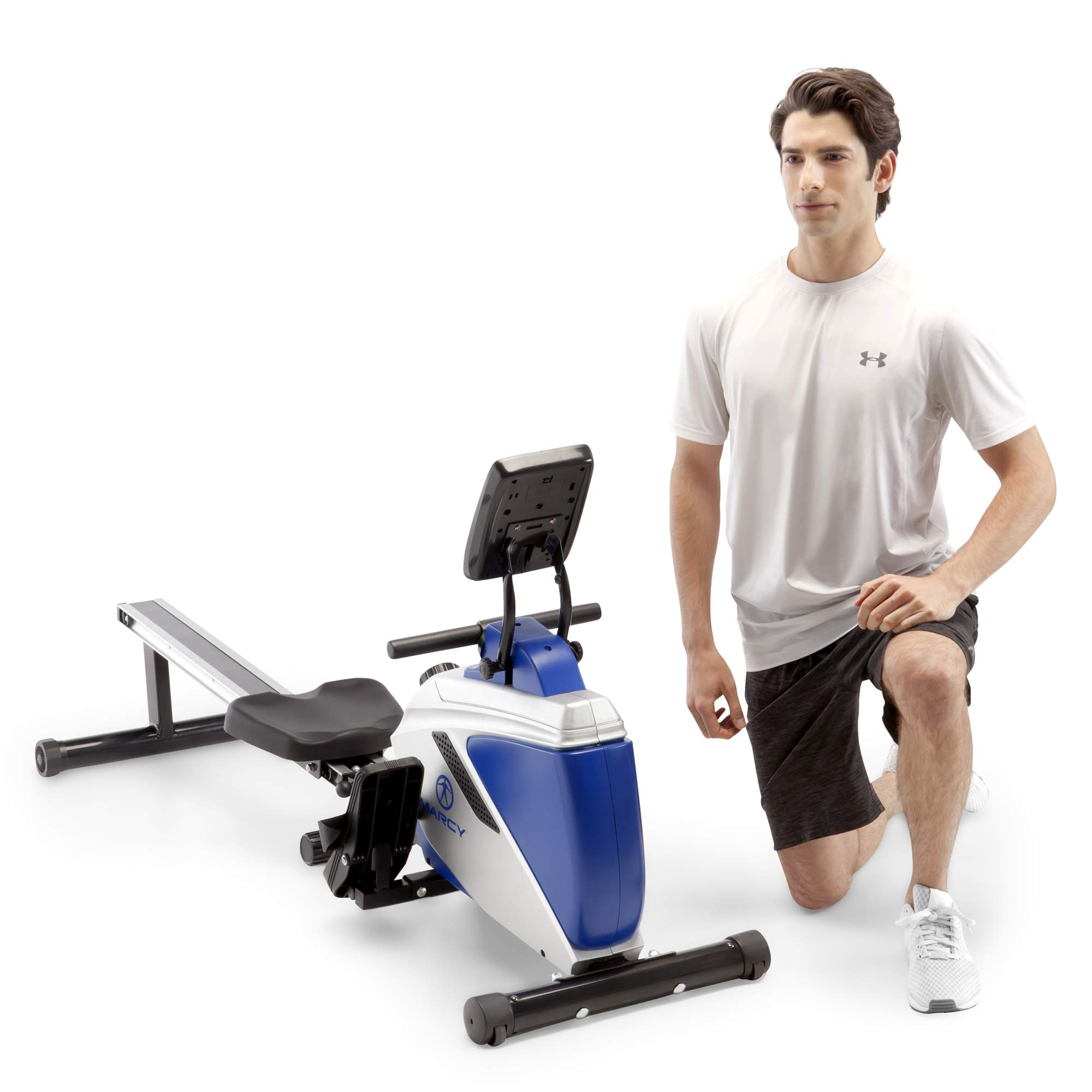 Marcy Foldable Magnetic Rowing Machine with Adjustable Resistance & Transport Wheels ME-1018RE, One Size