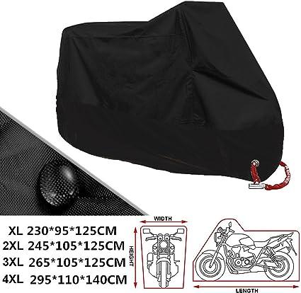 ANFTOP Housse de moto xl exterieur interieur imperm/éable /à leau couverture de scooter de moto Couvre-moto de protection UV anti-poussi/ère ext/érieure pour moto Taille XL