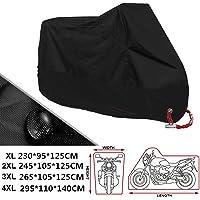 ANFTOP motocicleta Funda para moto 4XL Negro Color