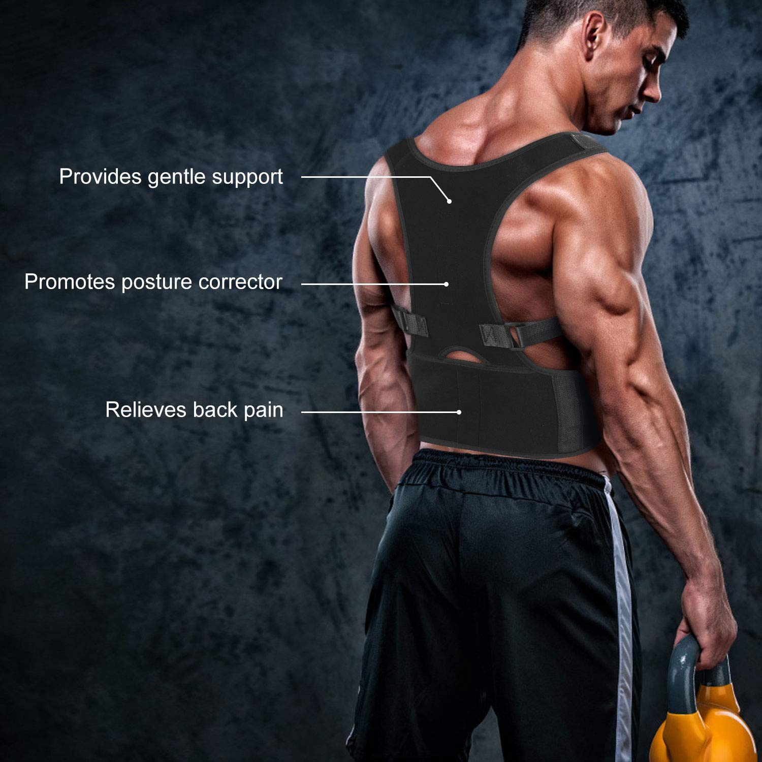 Improves Posture and Provides Lumbar Support,for Men and Women Supports Correct Posture Upper and Lower Back Lumbar Shoulder Support Trainer for Pain Relief Back Brace Posture Corrector