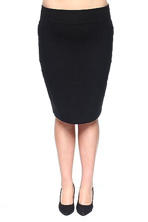 9dd59b345c Rokoko Women's Plus-Size High Waist Midi Knee Office Work Pencil Skirt - 1XL  -