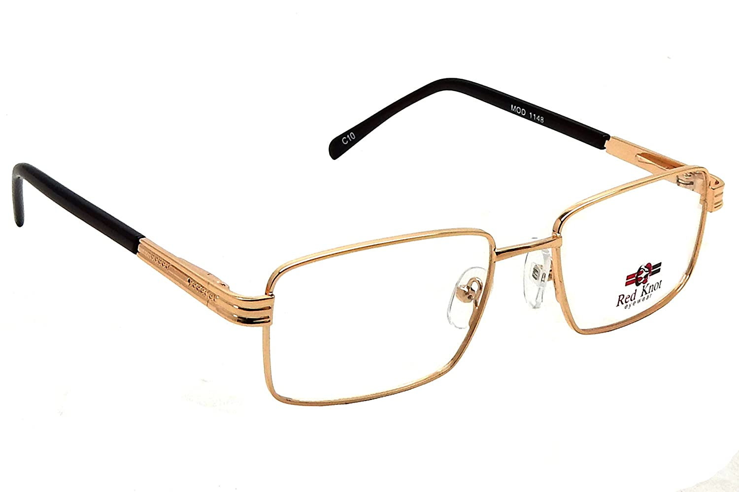 Redknot Shoes Tech Brown Red Knot Full Rim Golden Metal Spetacle Frames Mod 1148 Clothing Accessories