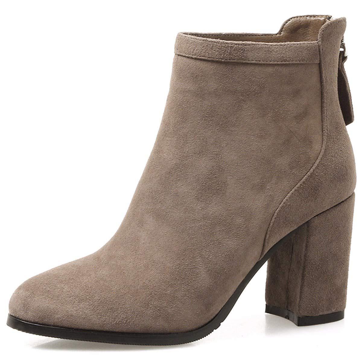 HBDLH Damenschuhe Stiefel, Meine Damen, Kurze Stiefel, High Heels 6 cm, Nackt, Stiefel, Martin Stiefel, Frauen - Stiefel.