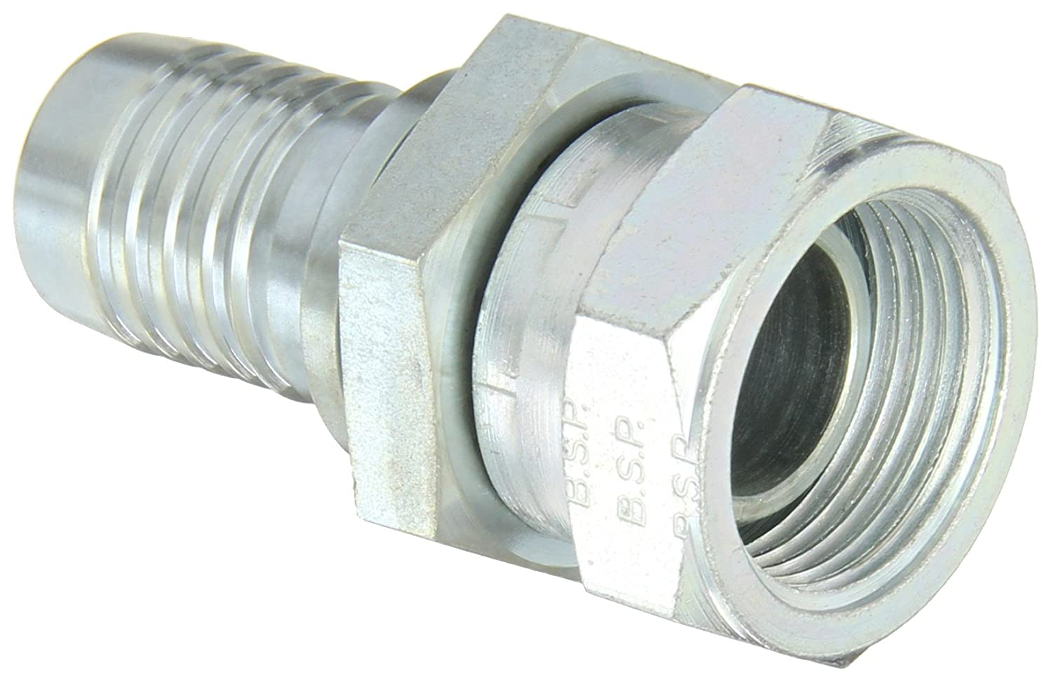 Aeroquip 1S16JM16 Carbon Steel Global Crimp Hose Fitting BSPP Female Swivel 1 Pipe Size 1 Hose ID 1 Pipe Size Eaton 1 Hose ID Straight