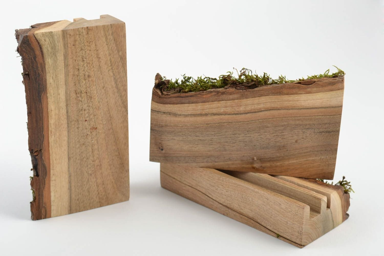 Amazon.com: Juego de 3 caseros funda soportes de madera para ...