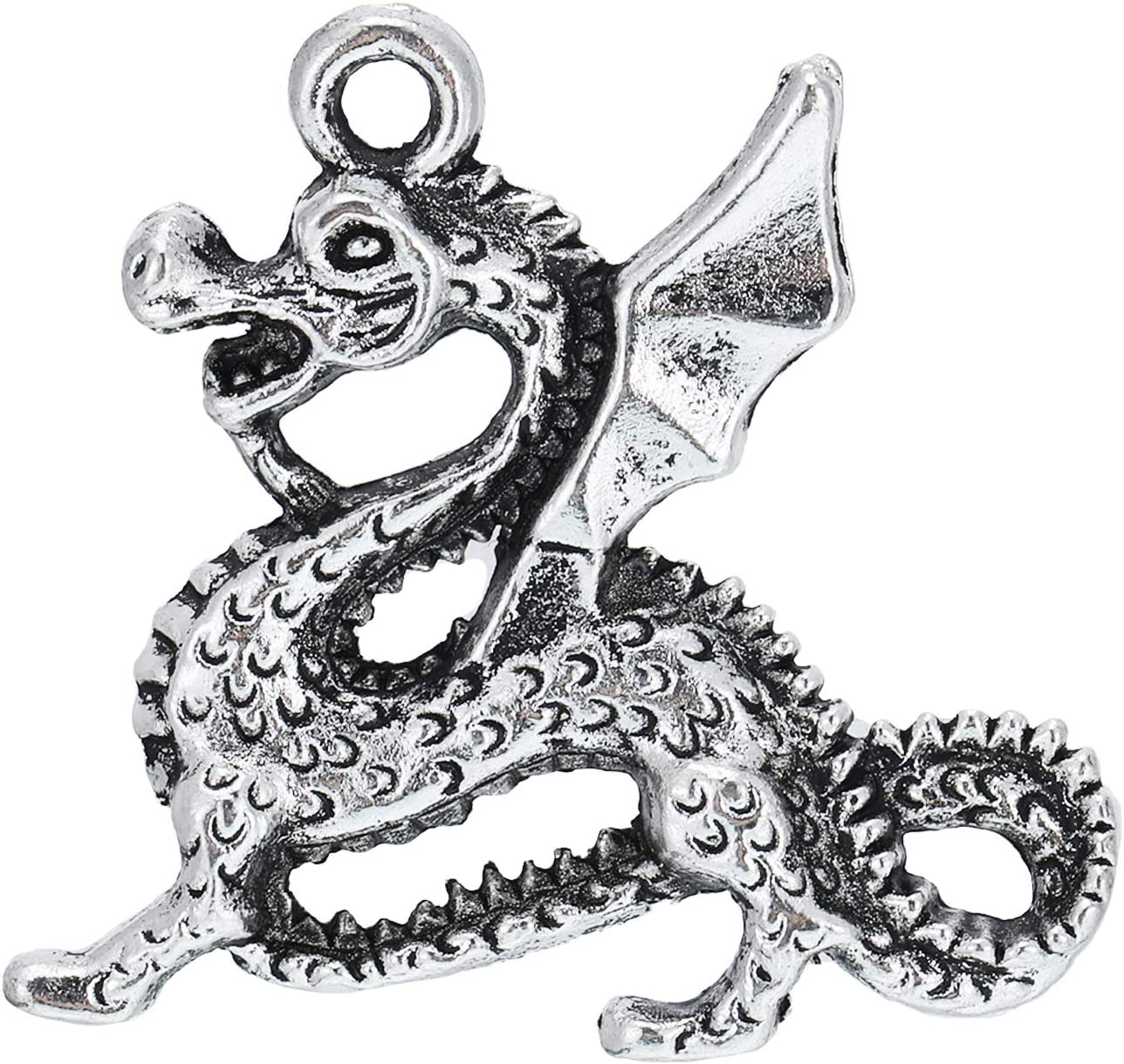 WILLBOND 70 Pieces Charm Collections Antique Silver Pendant Charms Jewelry Crafting Supplies for DIY Necklace Bracelet Christmas Charms