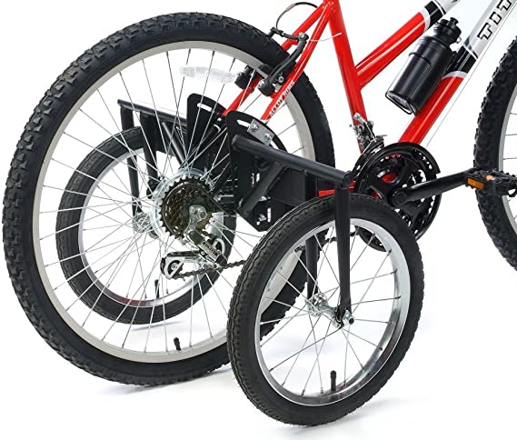 Black Universal Wheels for Bicycles Childrens Training Wheels Bicycle Stabilizers Cycling Training Wheels Adjustable 12-20