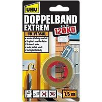 UHU Dubbele tape Extrem, extreem hoge kleefkracht van 120 kg/rol, 1,5 m x 19 mm