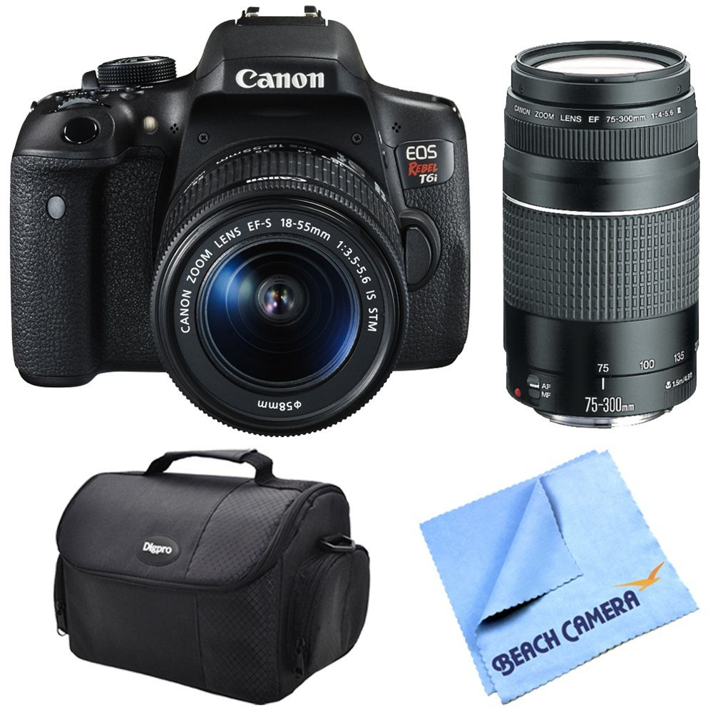 Canon-EOS-Rebel-T6i-Digital-SLR-Camera-Body-with-EF-S-18-55mm-IS-STM-Kit-with-EF-75-300mm-F4-5-6-III-Lens