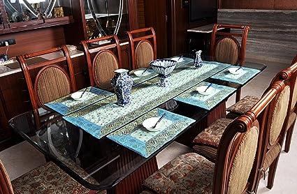 Party Table Mat Set Silk Decorative Dining Linen Runner
