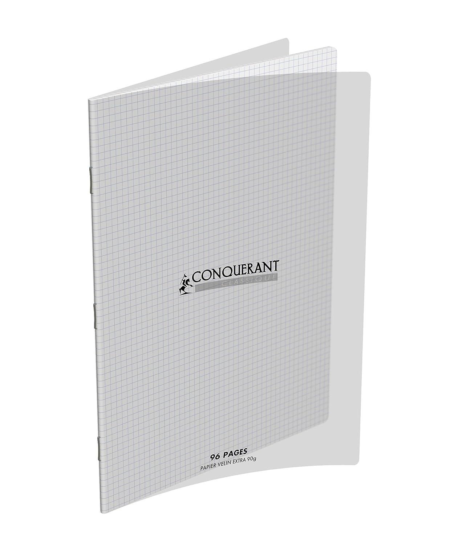 Conqu/érant 400009672 Cahier Petits carreaux 5 x 5 96 pages 24 x 32 cm Incolore