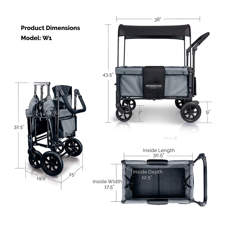 WonderFold Multi-Function 2 Passenger Push Folding Stroller Wagon2