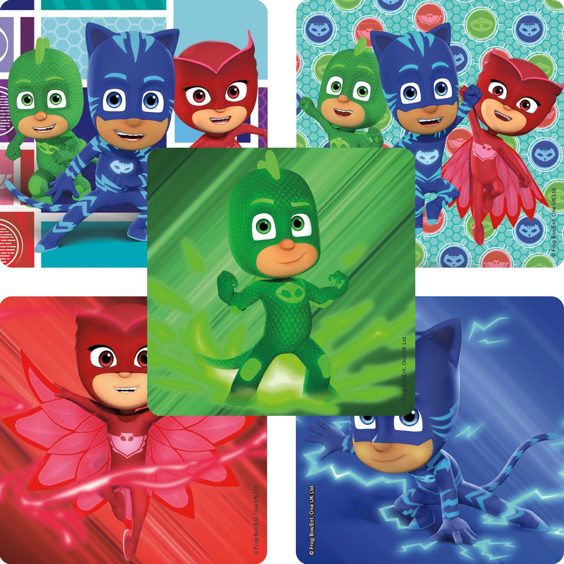 SmileMakers PJ Masks Stickers Prizes 100 per Pack