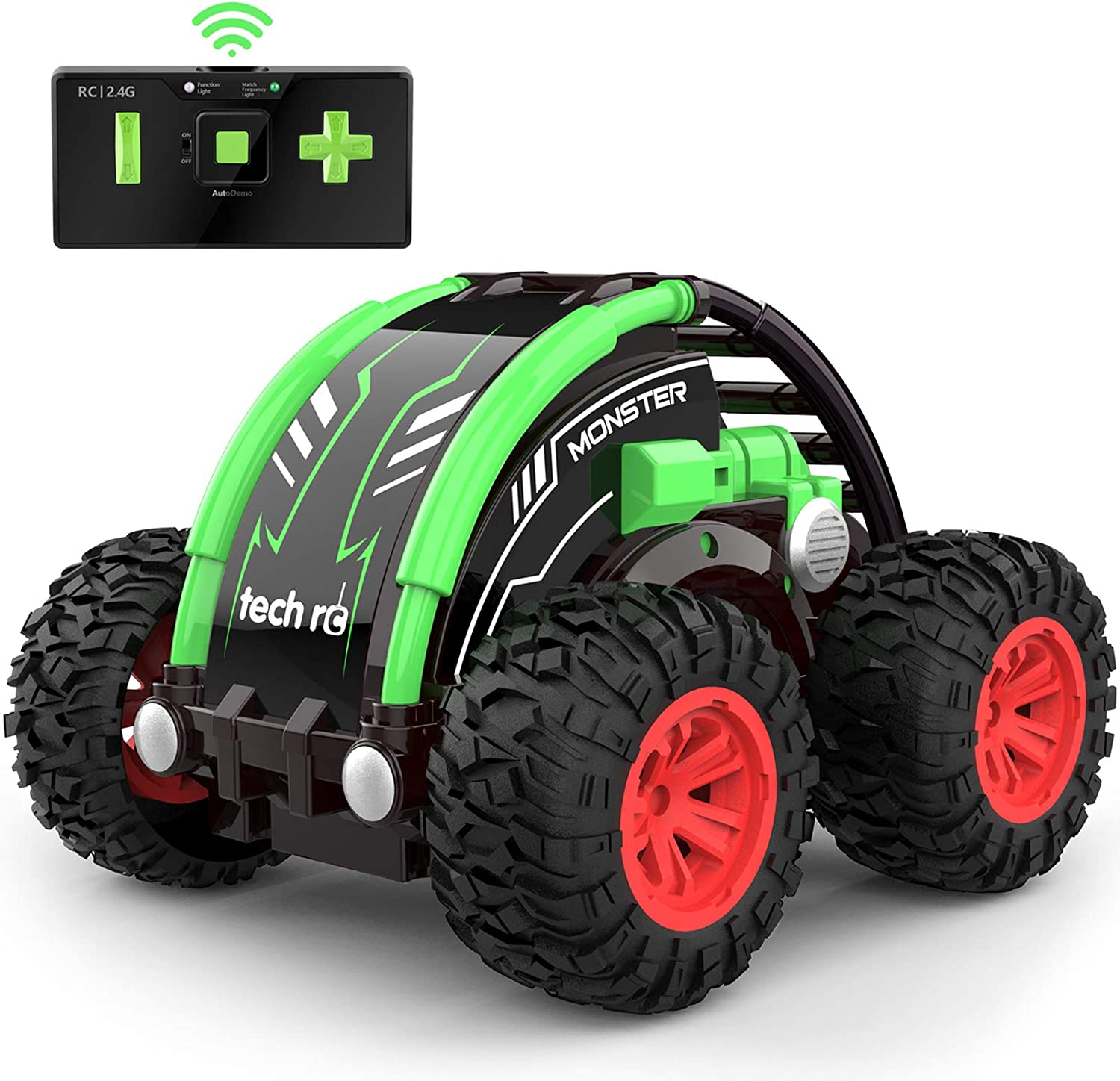 tech rc RC Car Stunt Car for Kids, 360° Spins & Flips 2.4 GHZ 4WD High Speed Remote Control Car for Boys: Toys & Games