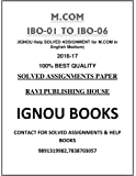 M.COM FULLY SOLVED ASSIGNMENT(1ST YEAR ENGLISH MEDIUM) IBO-1 TO 6