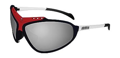 f09e393550 Briko Stinger Evoluzione - Gafas de Ciclismo Unisex, Color Negro/Rojo /  Blanco