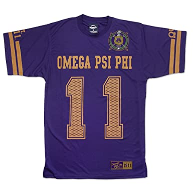 Amazoncom Omega Psi Phi Fraternity Mens New Jersey Tee Purple