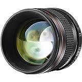 Neewer 85mm f/1.8 Manual Focus Aspherical Medium Telephoto Lens for APS-C DSLR Nikon D5, D4s, D4, D3x, Df, D810, D800…