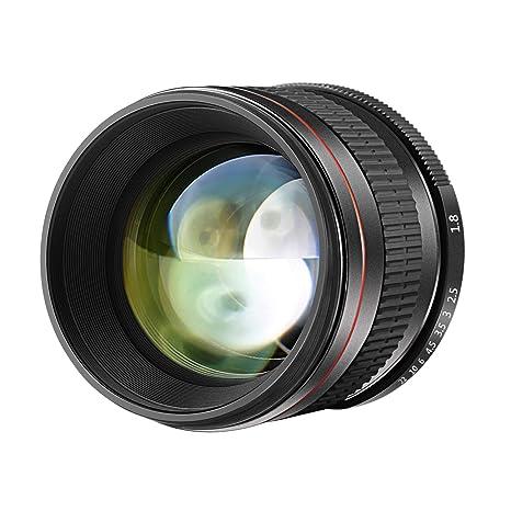 Neewer 85mm f/1.8 Lente de Enfoque Manual Fijo Cristal HD Retrato ...