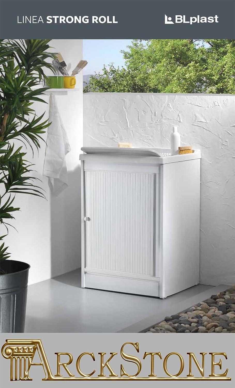 Arckstone - Mueble de baño de PVC con puerta deslizante y compartimento inferior de 60 x 60 cm: Amazon.es: Hogar