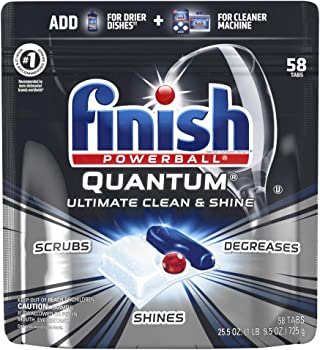 58-Count Finish Quantum Ultimate Clean & Shine Dishwasher Detergent