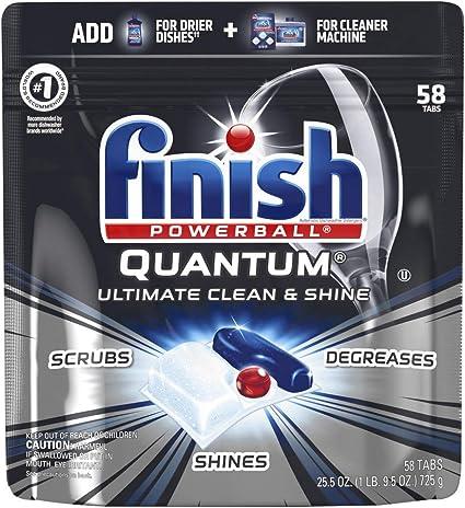 Amazon.com: Finish Quantum Cápsulas de detergente para ...