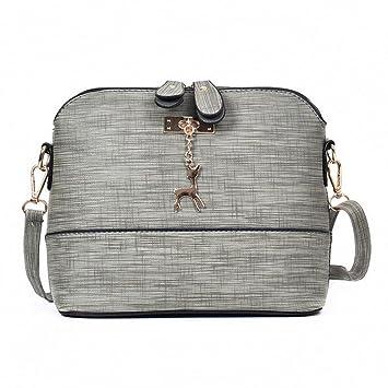 d55745b677 Women Vintage Handbag, Xinantime Small Shell Leather Handbag Casual Packet Messenger  Bags (Gray