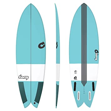 Tabla de Surf Torq epoxy Tec Fish 5.10 Blue