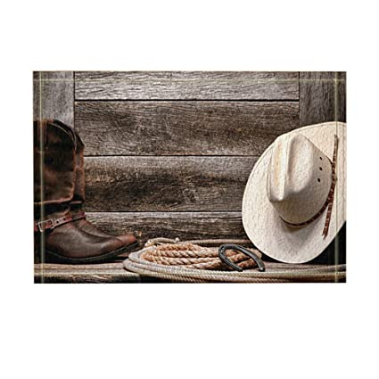 Amazon Com Kotom Western Decor Cowboy Hat Boots And Rope Against