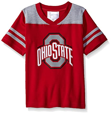 068c57916cf Image Unavailable. Image not available for. Color: Two Feet Ahead NCAA Ohio  State Buckeyes Toddler Boys Football Shirt ...