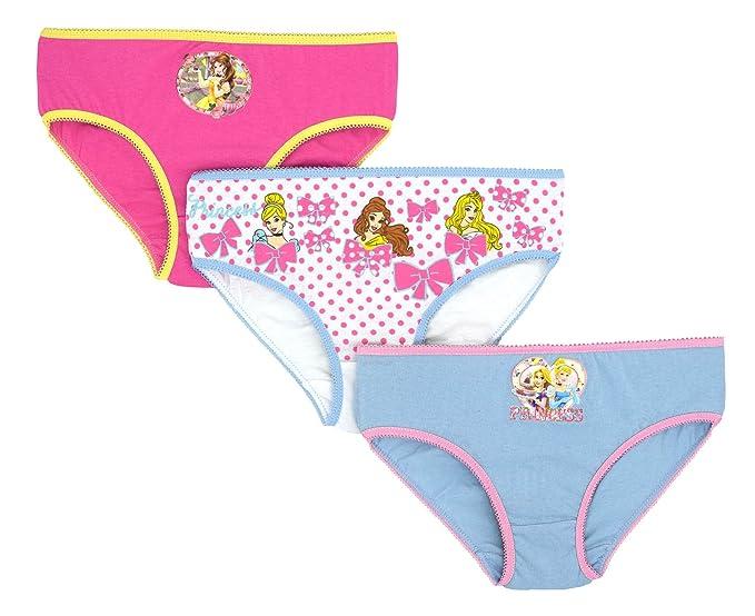 3 braguitas para niña Disney Princess ropa interior calzoncillos 4-5 años