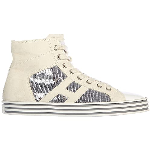 6e501183ca Hogan Rebel Scarpe Sneakers Alte Donna in camoscio Nuove r141 Rebel ...