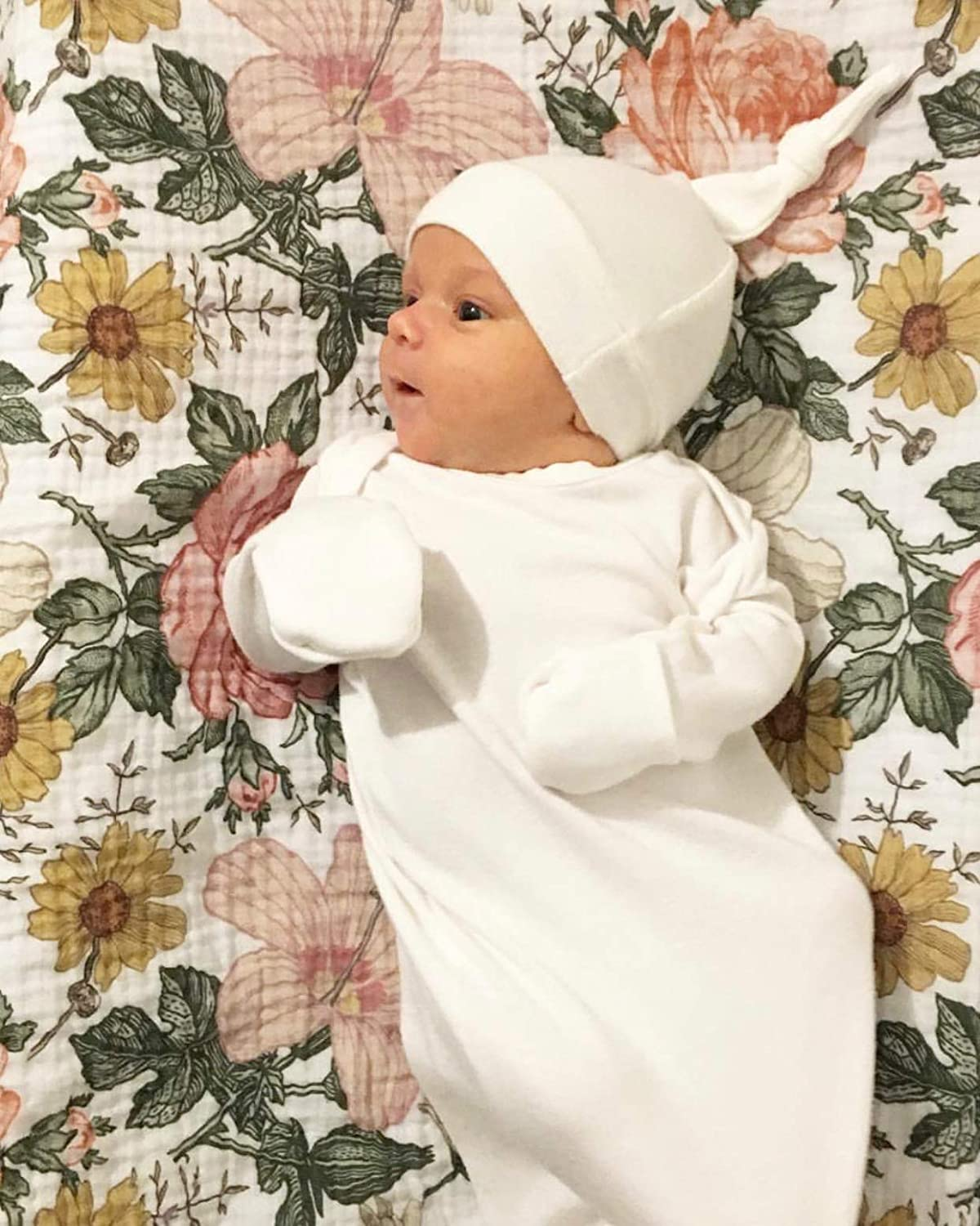 Lucky Love Baby Gown Newborn Knotted Infant Sleeper for Baby Girl and Boy