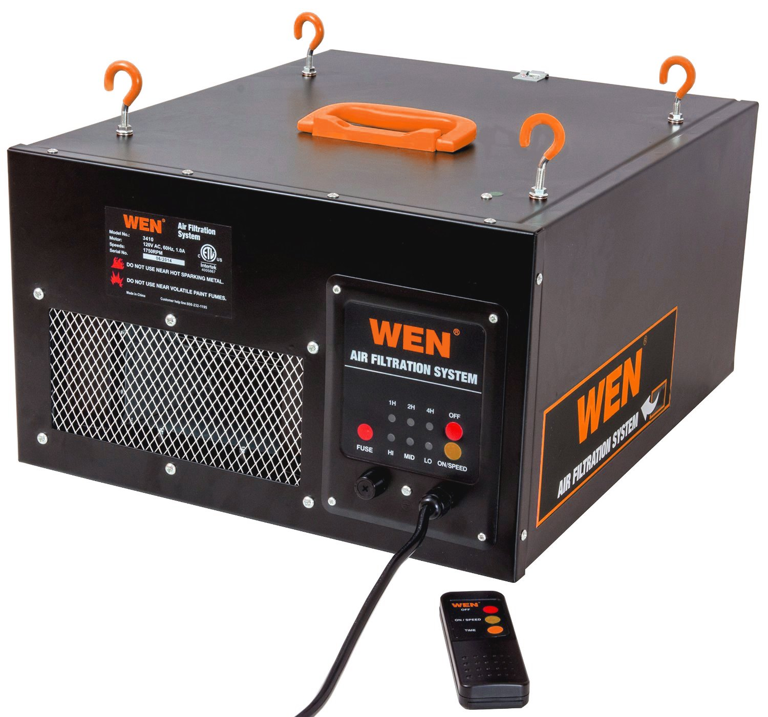 WEN 3410 3-Speed Remote-Controlled Air Filtration System by WEN (Image #1)