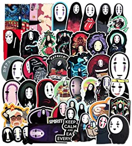Studio Ghibli Spirited Away No Face Themed 40 Piece Sticker Decal Set for Kids Adults - Laptop Motorcycle Skateboard Decals