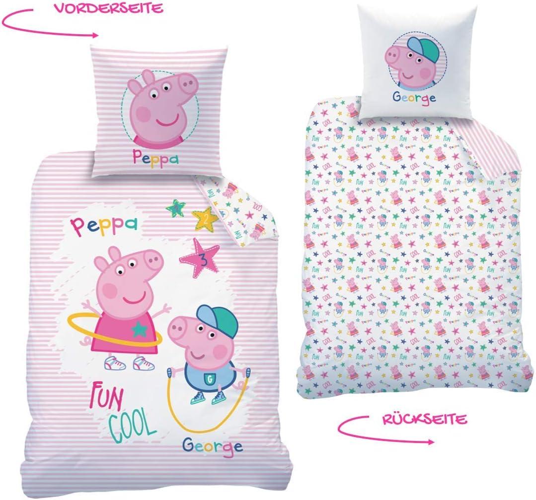 Peppa Wutz CTI Juego de cama reversible Peppa Pig · Ropa de cama ...